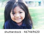 smiling latin kid  | Shutterstock . vector #467469620