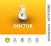 doctor color icon  vector...