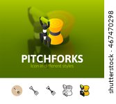 pitchforks color icon  vector... | Shutterstock .eps vector #467470298