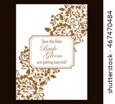 vintage delicate invitation... | Shutterstock .eps vector #467470484