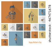 happy mothers day simple flat... | Shutterstock .eps vector #467471678