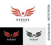 wings logo template. | Shutterstock .eps vector #467474534
