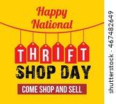 thrift shop day vector... | Shutterstock .eps vector #467482649