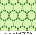 pattern of hexagons. vector... | Shutterstock .eps vector #467492204
