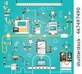 modern vector illustration of... | Shutterstock .eps vector #467497490