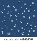 seamless pattern of different... | Shutterstock .eps vector #467498804