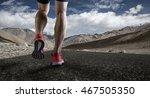 runner feet running on road... | Shutterstock . vector #467505350