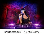 beautiful sexual dj girl... | Shutterstock . vector #467513399