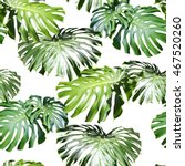 tropical leaves pattern. green... | Shutterstock . vector #467520260