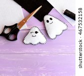 Two Small Halloween Ghosts Diy...