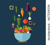 fresh vegetables salad vector... | Shutterstock .eps vector #467534534