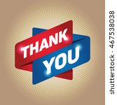 thank you arrow tag sign. | Shutterstock .eps vector #467538038