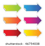 arrow sticker | Shutterstock .eps vector #46754038