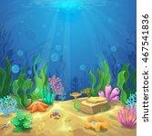 underwater landscape. the ocean ... | Shutterstock .eps vector #467541836