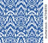 blue ikat ogee seamless... | Shutterstock .eps vector #467548550