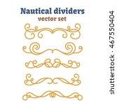 dividers set. nautical ropes.... | Shutterstock .eps vector #467550404