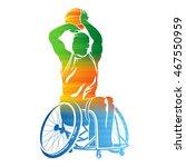 disabled basketball player.... | Shutterstock .eps vector #467550959