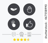 hand icons. like thumb up... | Shutterstock .eps vector #467558990