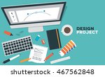 a set of creative objects for a ... | Shutterstock .eps vector #467562848