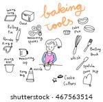 vector illustration   cute... | Shutterstock .eps vector #467563514