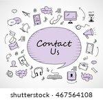speech bubble  contact us icons ...