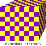 Cubic Of Checkerboard Grid...