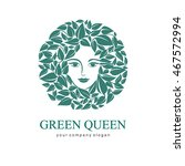 green queen logo. logo for... | Shutterstock .eps vector #467572994