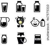 milk symbols icons | Shutterstock .eps vector #467575310