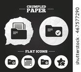 crumpled paper speech bubble.... | Shutterstock .eps vector #467577290