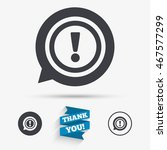 exclamation mark sign icon.... | Shutterstock .eps vector #467577299
