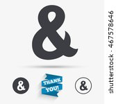 ampersand sign icon....   Shutterstock .eps vector #467578646