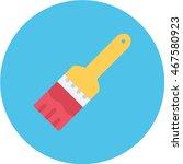 brush flat circle icon | Shutterstock .eps vector #467580923