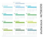 calendar 2017 year grid design... | Shutterstock .eps vector #467583350