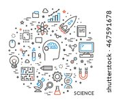 line web concept for science.... | Shutterstock . vector #467591678