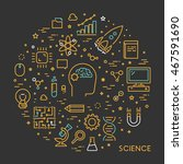 line web concept for science.... | Shutterstock . vector #467591690
