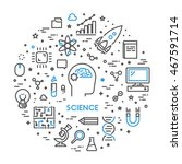 line web concept for science.... | Shutterstock . vector #467591714