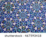 mosque in yazd  iran  blue... | Shutterstock . vector #467593418