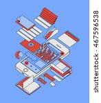 smartphone infographic  vector... | Shutterstock .eps vector #467596538
