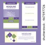 corporate vector layout... | Shutterstock .eps vector #467597726