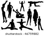 illustration of some women and... | Shutterstock .eps vector #46759882