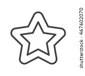 a star icon in line