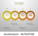 infographics step by step.... | Shutterstock .eps vector #467603768