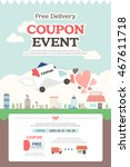 delivery event template | Shutterstock .eps vector #467611718