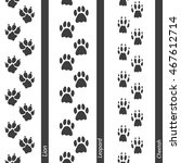 animal footprints seamless... | Shutterstock .eps vector #467612714