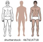 set of three male body design... | Shutterstock .eps vector #467614718