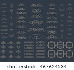 vintage set exclusive borders... | Shutterstock . vector #467624534