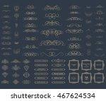vintage set exclusive borders...   Shutterstock . vector #467624534