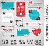 big set of vector quote... | Shutterstock .eps vector #467634620