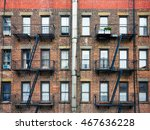 escape fire ladders at house... | Shutterstock . vector #467636228
