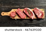 fresh raw prime black angus... | Shutterstock . vector #467639330